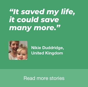 It saved my life, it could save many more -- Nikie Duddrige